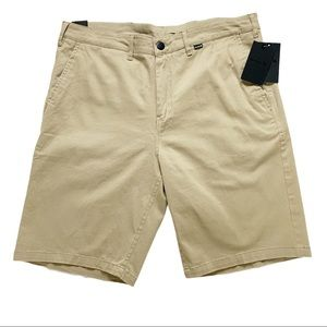 "Hurley One and Only Regular Fit 21"" Khaki Shorts"